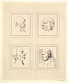 Four Heads (from Characaturas by Leonardo da Vinci, from Drawings by Wincelslaus Hollar, out of the Portland Museum) MET DP824101.jpg