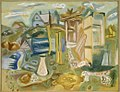 Frances Hodgkins HOUSES AND OUTHOUSES, PURBECK 1938.jpg