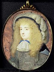 Frances Teresa Stuart (1647-1702), hertogin van Richmond en Lennox, in travestie