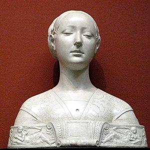 Ippolita Maria Sforza - Francesco Laurana, bust of a Princess of the House of Naples traditionally identified with Ippolita Maria Sforza
