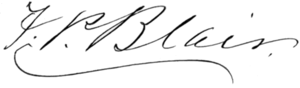 Francis Preston Blair - Image: Francis Preston Blair signature