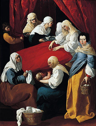 Spanish Golden Age - The Birth of the Virgin by Francisco de Zurbarán