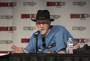 Frank Miller (comics) - Miller during a The Dark Knight III: The Master Race panel held at Fan Expo 2016 in Toronto, Canada