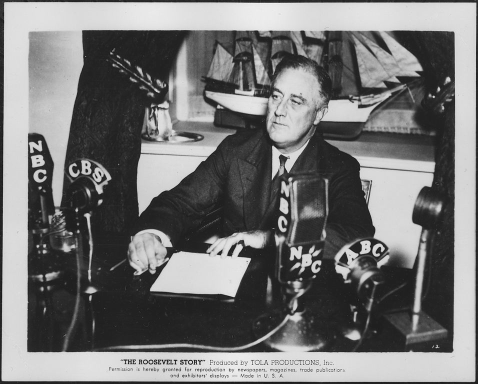 FDR giving a fireside chat