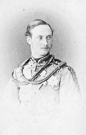 Frederick VIII of Denmark - Crown Prince Frederick in military uniform ca. 1863-1868.