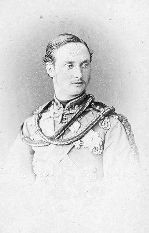 Frederick VIII of Denmark - Crown Prince Frederick in military uniform ca. 1863-1868.