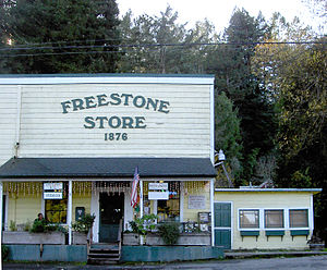 Freestone, California - The Freestone general store as of 2007.