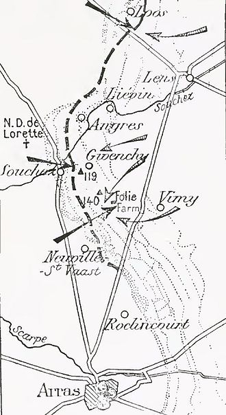 German attack on Vimy Ridge, 21 May 1916 - Image: French attack in Artois, September 1915