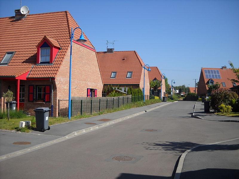 Houses in Fretin, Nord, France.