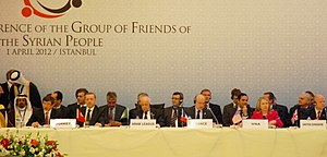 Friends of Syria Group - Participants at the Istanbul conference on 1 April 2012