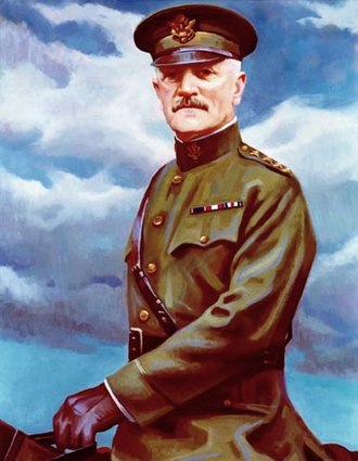 General of the Armies - General John Pershing depicted with four gold stars on his epaulette