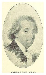 Walter Hussey Burgh 18th-century Irish politician, barrister, and judge
