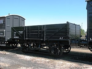 Great Western Railway wagons - O13 open with end doors
