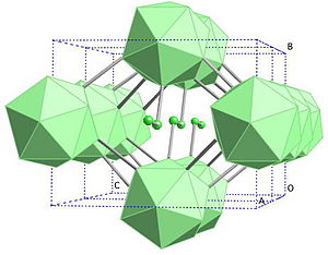 Regular icosahedron - Structure of γ-boron.