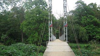 Garampani Wildlife Sanctuary - Image: Garampani hanging bridge