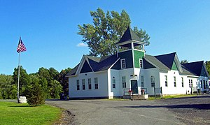 Gardiner, New York - The town hall, a former schoolhouse on the National Register of Historic Places.