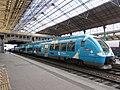 Gare de Lyon-Perrache - Train B 81576 en gare habillé Auvergne-Rhône-Alpes (janv 2019).jpg