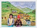 Garhwal wall mural with 2 kids by rajesh chandra .jpg