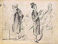 Gavarni P. attr. - Ink - Etude de personnages (RECTO) - 25x18.2cm.jpg