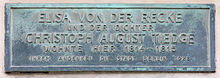 Gedenktafel am Haus Brüderstraße 13, in Berlin-Mitte (Quelle: Wikimedia)