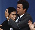 George P. Bush and Jeb Bush at 1992 RNC P34627-27.jpg