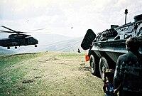 German KFOR observation post in Dragaš, 2001.jpg