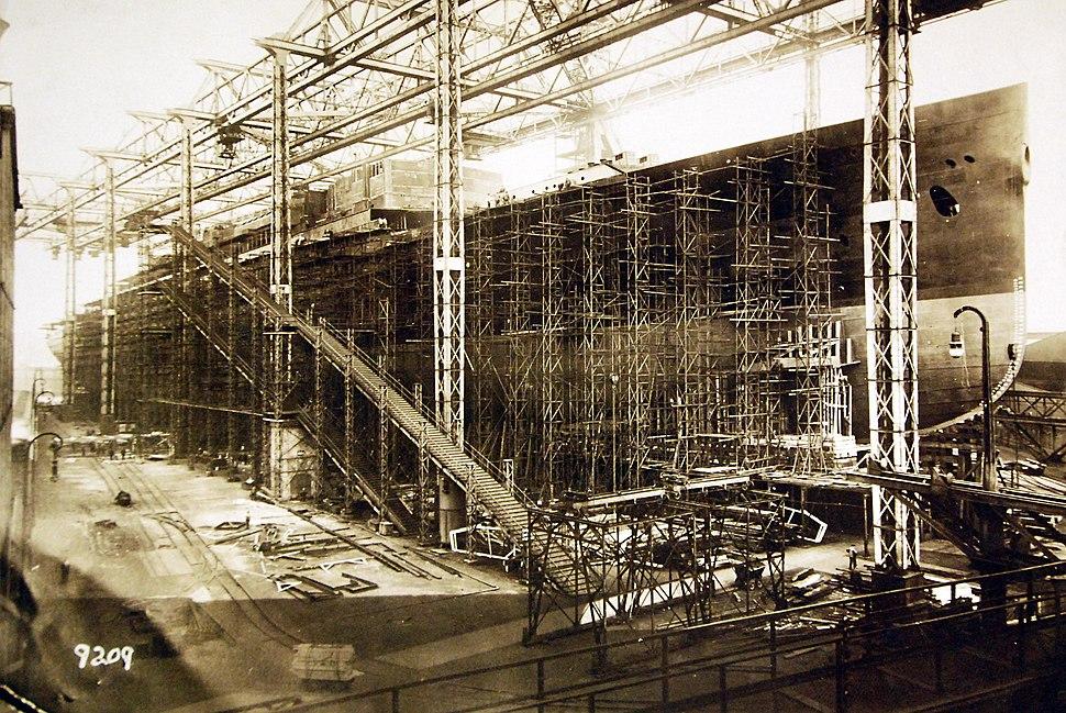 German ocean liner Bismarck under construction (27755368680)