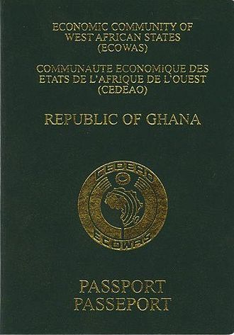 Ghanaian passport - The front cover of a contemporary Ghanaian passport