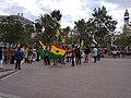 Ghanaians demonstrating in Plaça de l'Ajuntament, Valencia 2021-06-13.jpg