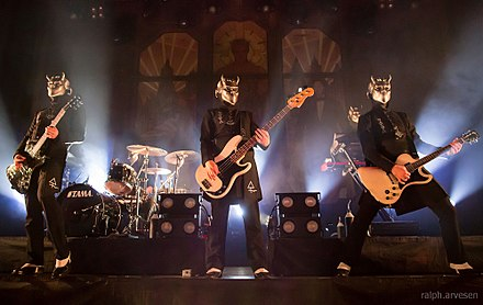 The Nameless Ghouls performing in Austin, Texas, 2016 Ghost - Austin 2016 5.jpg