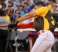 Giancarlo Stanton competes in semis of '16 T-Mobile -HRDerby. (28468355182).jpg