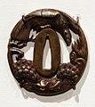 Giappone, periodo edo, tsuba (coprimano da elsa di spada), xviii e xix secolo, 07 falco.jpg