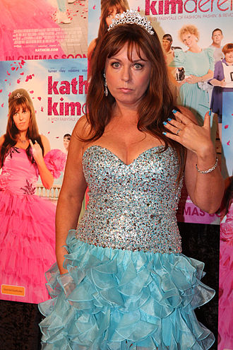 Gina Riley - Gina Riley in character as Kim Craig at the Kath & Kimderella film premiere in August 2012