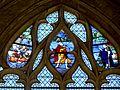 Gisors (27), collégiale St-Gervais-et-St-Protais, collatéral nord, verrière n° 21 - sainte Clotilde, saint Pierre 2.jpg