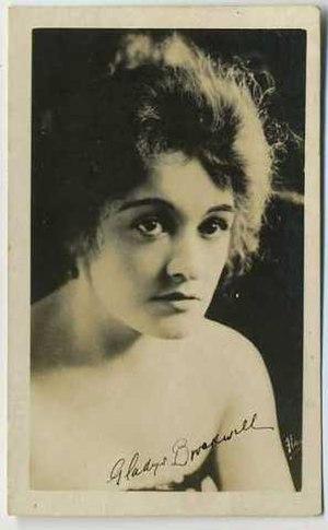 Gladys Brockwell - Photo movie card of Brockwell (ca. 1910s)