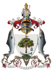The coat of arms of the City of Glasgow as granted in 1866.