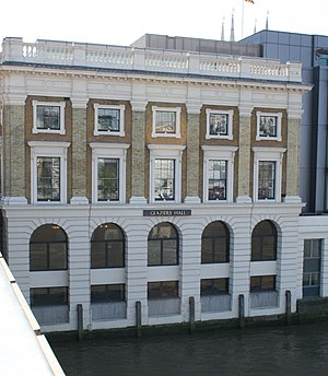 Worshipful Company of Glaziers and Painters of Glass - The Rear of Glaziers Hall, on the south bank of the River Thames