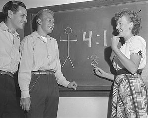 Glendale Community College (California) - Four boys for every girl at Glendale College, 1948