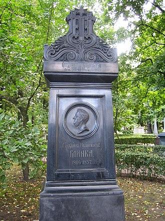 Mikhail Glinka - Grave of Mikhail Glinka in Tikhvin Cemetery in Saint Petersburg
