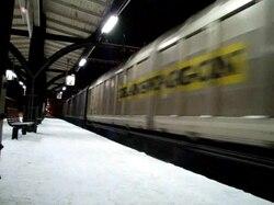 Fil:   Godstoge Krylbo station.ogv