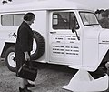 Golda Meir presenting an ambulance to Kenya 1964.jpg