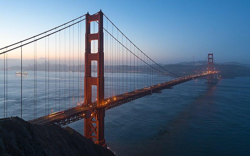 File:Golden Gate Bridge during blue hour (16 x 10).jpg