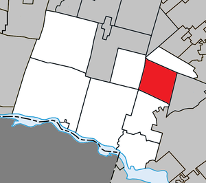 Gore, Quebec - Image: Gore Quebec location diagram