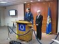 Gov. Malloy & Lt. Gov Wyman at State EOC discussing latest snowstorm (5392952139).jpg