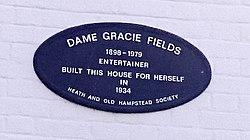 Photo of Gracie Fields plaque