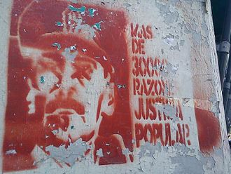 Operation Condor - Graffiti in Buenos Aires, demanding justice for victims of the Dirty War