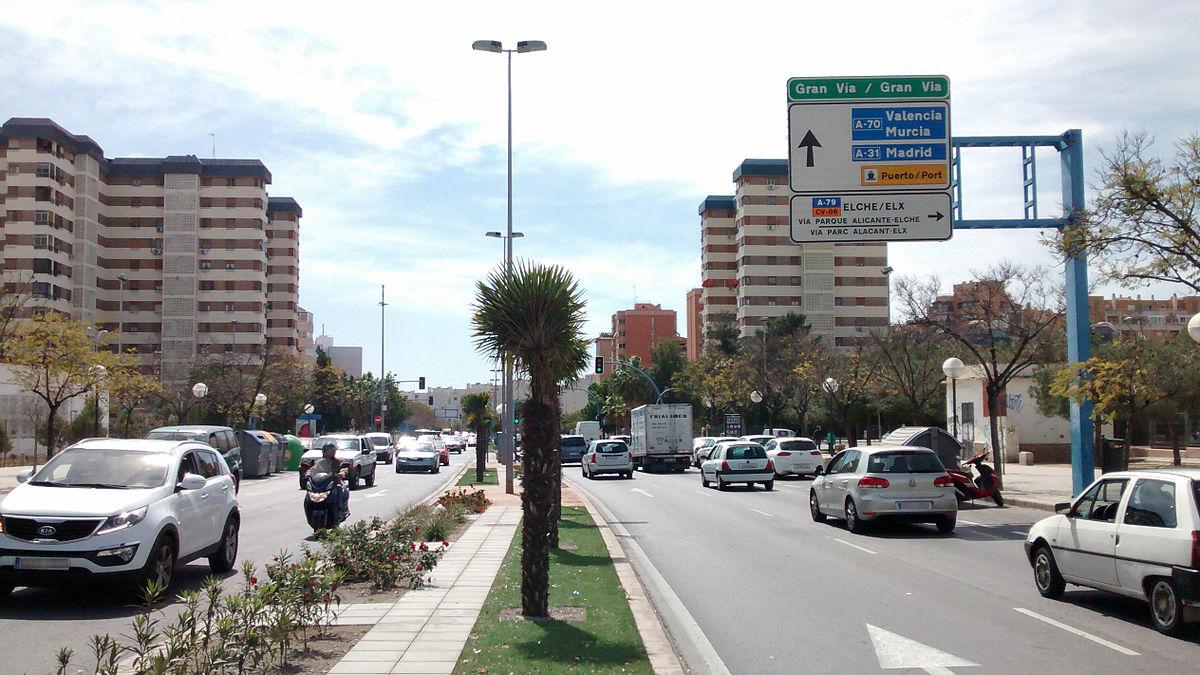 Mercedes San Jose >> Gran Vía (Alicante) - Wikipedia, la enciclopedia libre