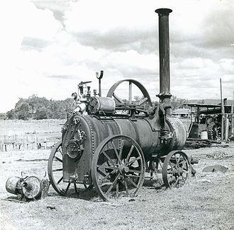 Grandchester Sawmills - Grandchester sawmill steam engine, 1945