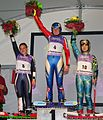 Grass Skiing World Championships 2009 Super-G Women Flower Ceremony.jpg