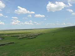 An Inner Mongolian grassland in the People's Republic of China.